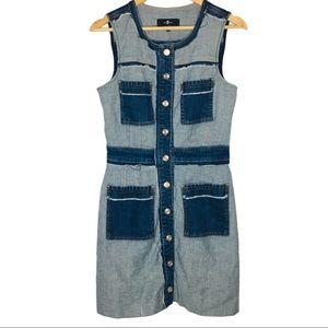 7 Seven For All Mankind Denim Patchwork dress